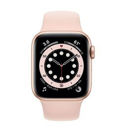 Apple Watch Se Gold Aluminum Case With Pink Sand Sport Band 44mm