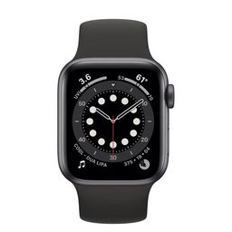 Apple Watch Se Space Gray Aluminum Case With Black Sport Band 44mm