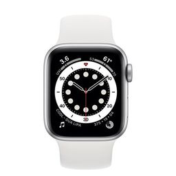 Apple Watch Se Silver Aluminum Case With White Sport Band 40mm